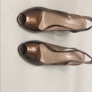 Shoes - Franco Sarto Brown wedge .open toe , very Classy